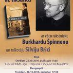 Rīgā viesosies rakstnieks Burkhards Špinnens
